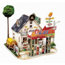 Unique 3D Puzzle Educational Toy Diy 3d Stereoscopic Puzzle, US Gas Store