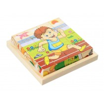 3D Jigsaw Puzzle Wooden Educational Toys For Children