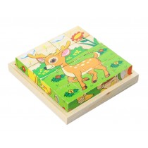 Lovely Deer Kids 3D Jigsaw Puzzle Wooden Puzzle
