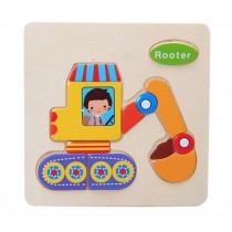 Set Of 2 Children Wooden Stereoscopic Jigsaw Puzzle