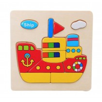 2 Pieces Wooden Stereoscopic Jigsaw Puzzle For Children, Ship