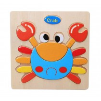 Creative Children Wooden 3D Jigsaw Puzzle(Crab)  2 Pcs