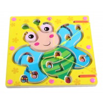 Double-Sided Wooden Kids Toy Maze Puzzle Educational Maze Game Ludo, Bee