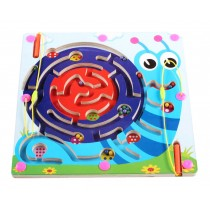 Double-Sided Wooden Kids Toy Maze Puzzle Educational Maze Game Ludo, Snail
