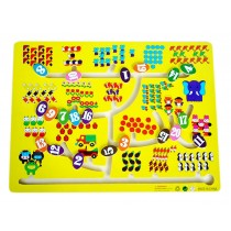 Kids Wooden Toy Preschool Maze Educational Board Game Family Game - Number