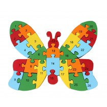 Funny Digital & Letter Wooden Blocks Puzzles Educational Puzzle Butterfly