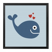 [Whale]Decorative Painting Framed Painting Wall Decor Kids' Room Hanging Picture