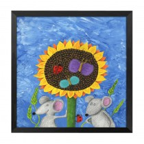 [Sunflower] Decorative Painting Framed Painting Wall Decor Kids Creative Picture