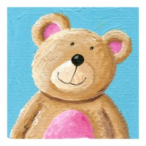 Decorative Painting Frameless Painting Wall Decor Kids Creative Picture [Bear]