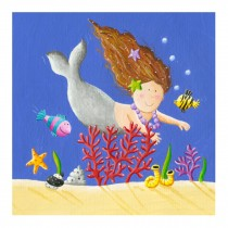 Decorative Painting Frameless Painting Wall Decor Creative Picture [Mermaid]