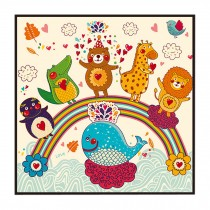 [Rainbow] Decorative Painting Framed Painting Wall Decor Kids Creative Picture