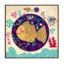 [Fish] Decorative Painting Framed Painting Wall Decor Kids Creative Picture
