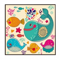 [Cute Fish] Decorative Painting Framed Painting Wall Decor Kids Creative Picture