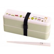 [Cartoon] Japanese Style Multifunctional Double Layer Bento/Lunch Box/Container