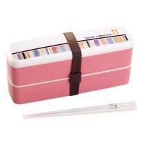 [Color-Block] Multifunctional Double Layer Bento/Lunch Box/Container