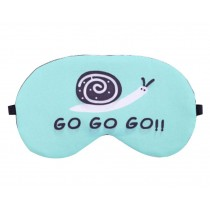 Lovely Cartoon Eye Mask Personality Eyeshade Sleep Eye Mask,Snail, Blue