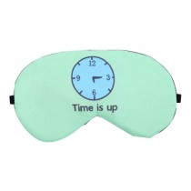 Creative Cartoon Sleeping Eye Mask Personality Lovely Eyeshade,Clock Blue