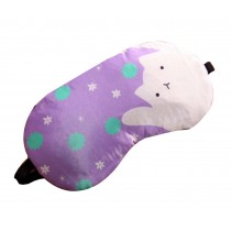 Lovely Cartoon Cat Eye Mask Creative Eyeshade Sleep Tools,Purple