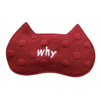Creative Shading Breathable Eye Mask Lovely Eyeshade Sleep Mask,Red