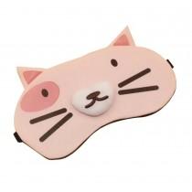 Creative Cartoon Shape Eye Mask Personalized Eyeshade,Pink Cat