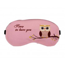 Lovely Owl Pattern Eye Mask Personalized Creative Eyeshade,Pink Owl