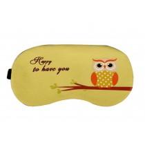 Lovely Cartoon Owl Eyeshade Personalized Creative Eye Masks,Yellow