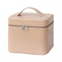 2017 Fashionable Makeup Case Cosmetic Storage Box For Girls Women,Beige