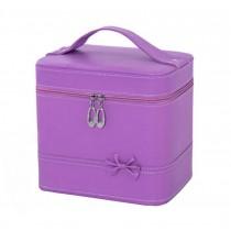 2017 Classic Makeup Case Women Cosmetics Storage Box Cosmetic Case,Purple