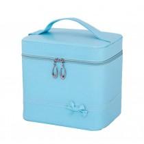Classic Elegant Makeup Case Cosmetic Bag Portable Cosmetics Case, Blue
