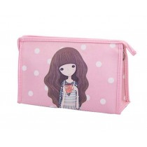 Classic Durable Makeup Bag Cosmetics Storage Bag Small Lightweight, Pink