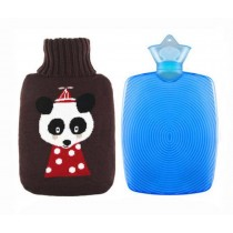 Lovely Advanced Cartoon Panda Large Hot Water Bottle,With Flannel Cover,1750 ML