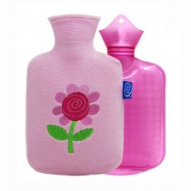 Upscale Elegant Children Hot Water Bottle/Classic Hand Warmer 800 ML, Pink