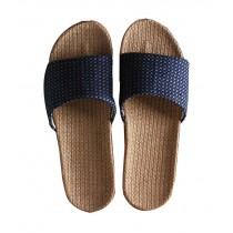 Summer Men's Cotton Thick Bottom Non-slip Four Seasons Linen Slippers