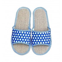 Home Linen Soft Bottom Cool Slippers Male/Hotel Slippers, Blue