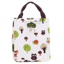 Durable Insulated Lunch Bag,Waterproof Insulation Package,Lovely Canvas Bag