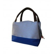 Comfortable Durable Insulation Oxford Cloth Small Square Bag, Blue Stripes