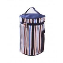 Easy To Carry Handbag Oxford Cloth Waterproof Stripe Lunch Bag, Deep Blue