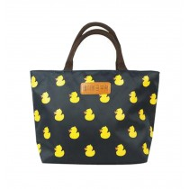 Lovely Oxford Cloth Printing Lunch Bag/Girl Handbag, Dark Blue Duck