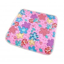 Colorful Flower Pattern Chair Cushions Children's Chair Mats With Two Binds