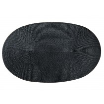 Set of 3 Black High-quality Durable Place Mats Insulation Mats Non-slip