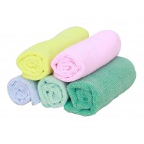 Set of 5 Colorful Durable Dishcloths Cleaning Dish towels Absorbent,5 Colors