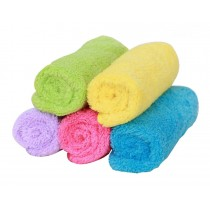 Set of 5 Colorful Macrofiber Dishcloths Towels Cleaning Cloths,Five-colored