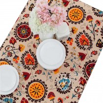 Flower Pattern Table Cloth,Comfortable Desk Table Cloth Refrigerator Cover Cloth