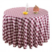 Elegant Table Cloth,Beautiful Round Table Cloth,Wine Red Lattice
