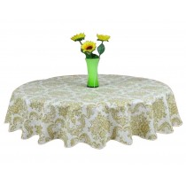 Elegant Round Tablecloth Water And Oil Resistant Classical Tablecloth