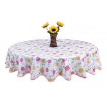 Elegant And Artistic Round Tablecloth Water And Oil Resistant Durable