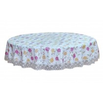Durable Elegant Classical Round Tablecloth Water Resistant Household Items