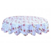 Elegant Colorful Round Tablecloth Water Oil Resistant Tablecloths