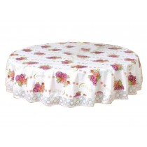 Elegant Round Tablecloth Water And Oil Resistant Classical Table Cloth