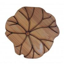 Set of 3 Bamboo Tea Set Coasters Coffee Coasters Natural